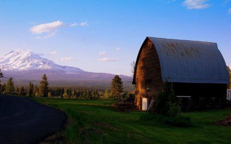 Barn and Mount Adams