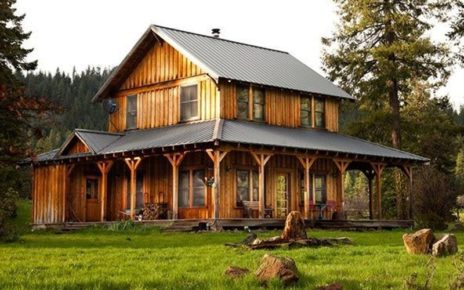 2-story wood house