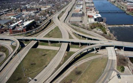 Empty freeways