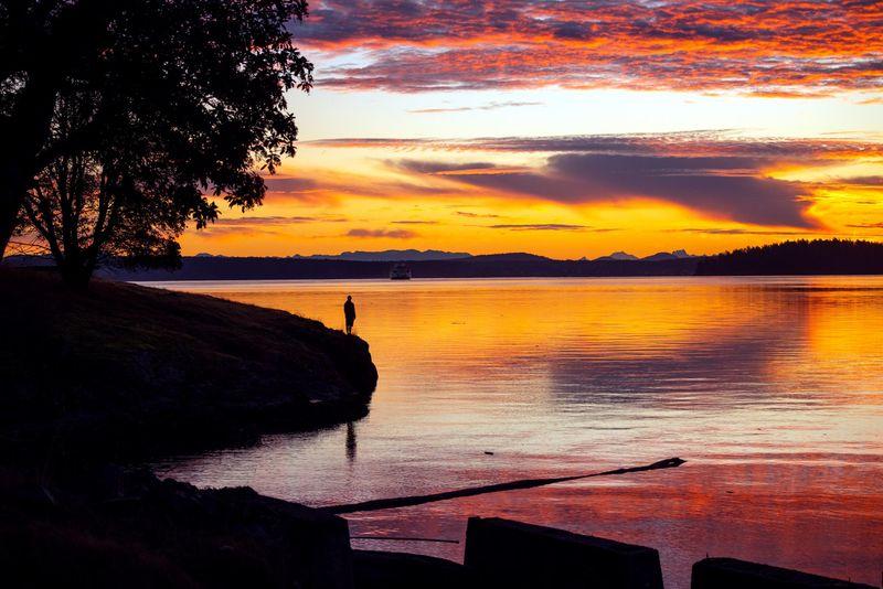 san juan island sunset