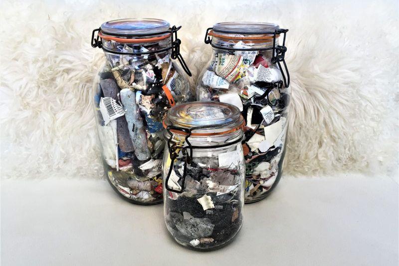 jars of trash