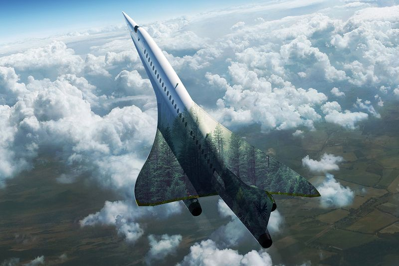supersonic jet in clouds