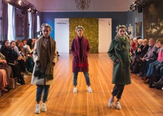 Slow fashion models on runway